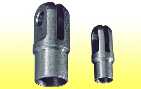 "Clevis Weld-in - Fits 1/2"" tube, 1/8"" slot, 1/4 "" hole"