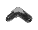 "1/4"" NPT to #4 AN - 90-Degree Black"