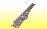 "A.R.T. / J.B.R.C. 4-Link Chassis Bracket - 1/4"" CM, 1/2"" Holes"