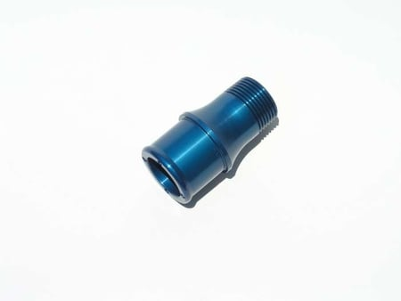 "Meziere Billet Water Pump Inlet Fitting - 1"" pipe to 1 1/2"" hose"