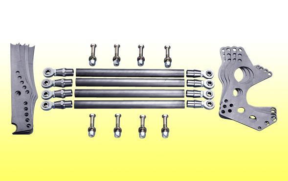 4 Link Kit Ultra Pro Series Chromoly Brackets