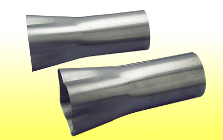 "Weld-On Collector 2 1/2"" Tube - 4 1/2""x10"" Collector"