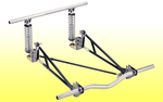 Ladder Bar System II - Pro Street With 2x3 Crossmember