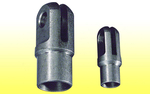 "Clevis Weld-in - Fits 1 1/8"" tube, 1/4"" slot, 3/8"" hole"